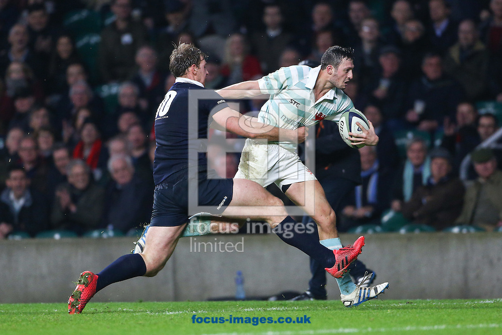 Rory Triniman of Cambridge University en route to scoring the winning try during The Varsity Match at Twickenham Stadium, Twickenham<br /> Picture by Mark Chappell/Focus Images Ltd +44 77927 63340<br /> 08/12/2016