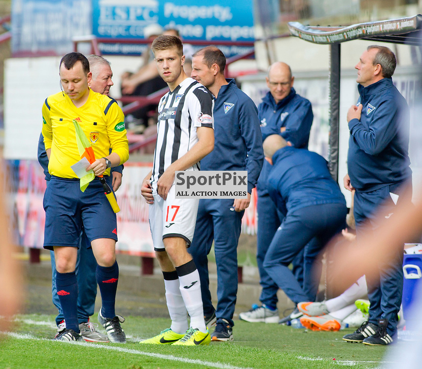 DAFC Sign Shaun Rooney East End Park 03 September 2015<br /> Shaun Rooney signs for DAFC after appearing as a trailist during saturdays match against Stranraer <br /> <br /> (c) CRAIG BROWN | SportPix.org.uk