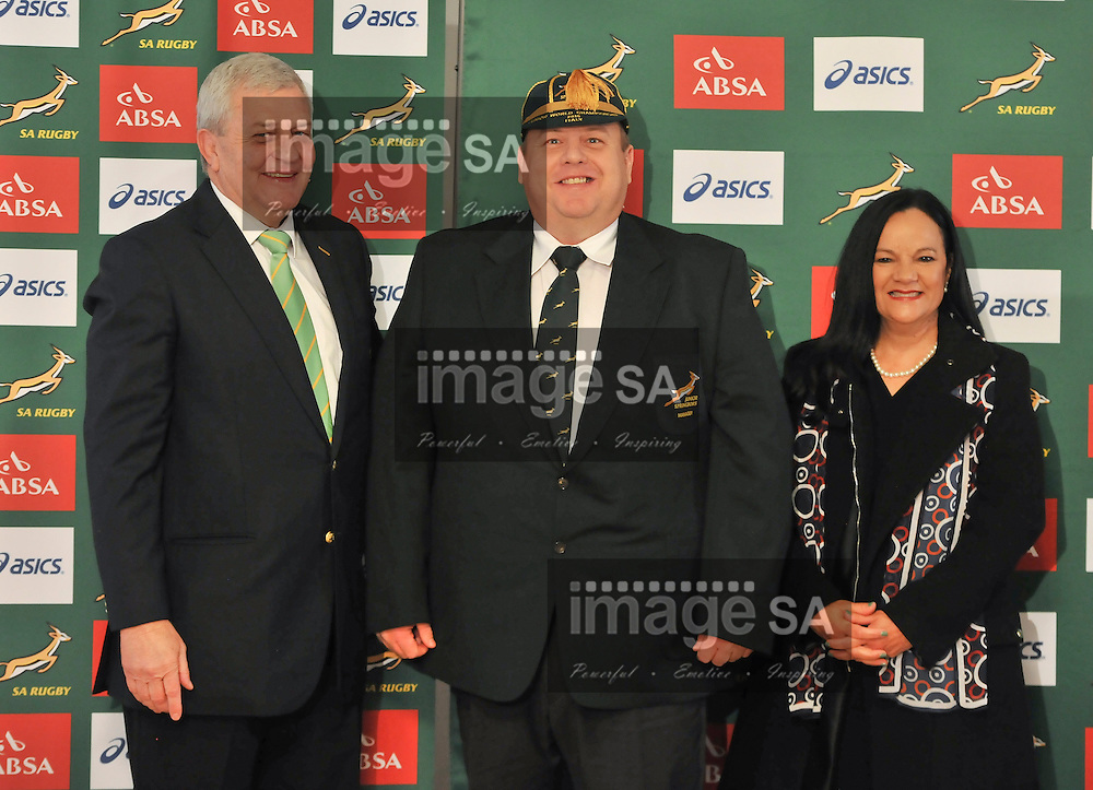 STELLENBOSCH, South Africa - 26 May 2015, Willem Oliphant (Team Manager) during the capping ceremony of the Springbok under 20 rugby team that will participate in the World Rugby Under 20 Championship in Italy. The ceremony was held in Paul Roos Gimnasium's Markotter club house.<br /> Photo by Roger Sedres/  ImageSA