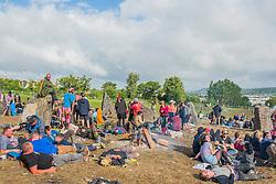 The 2015 Glastonbury Festival, Worthy Farm, Glastonbury. The stone circle