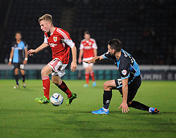 Bristol City's Joe Morrell in action against Wycombe Wanderers - Photo mandatory by-line: Joe Dent/JMP - Tel: Mobile: 07966 386802 08/10/2013 - SPORT - FOOTBALL - London Road Stadium - Peterborough - Peterborough United V Brentford - Johnstone Paint Trophy