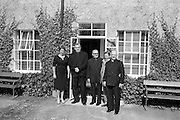 13/09/1962<br /> 09/13/1962<br /> 13September 1962<br /> Monsiginors visit Urney Chocolates Belgard Road, Tallaght, Dublin.  Pictured L-R: Unknown; Mons. Thomas Ryan (Vatican Secretariat of State); Mons. J. English (Australia); Arthur Behan, Works Manager, Urney and Mons. J. Lynch (Australia).