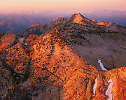 Sunset from the summit of Mt Hoffmann, Looking east towards Tuoumne Meadows Yosemite National Park, California