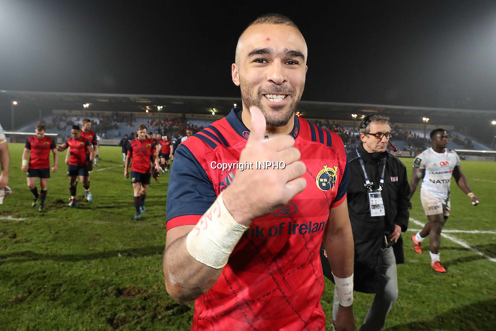 European Rugby Champions Cup Round 1, Stade Yves-du-Manoir, Paris, France 7/1/2017<br /> Racing 92 vs Munster<br /> Munster&Otilde;s Simon Zebo after the match<br /> Mandatory Credit &copy;INPHO/Billy Stickland