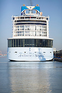 Royal Caribbean International's newest vessel, Anthem of the Seas, arrives into Southampton early this morning. The state of the art ship is 348m long, 41m wide and has 16 guest decks capable of carrying 4,000 passengers. She will spend the summer sailing from the port before transferring to New York.<br />