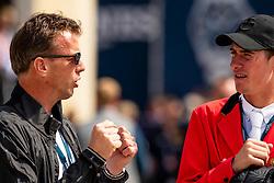 Smolders Harrie, NED, Verlooy Jos, BEL<br /> Rotterdam - Europameisterschaft Dressur, Springen und Para-Dressur 2019<br /> Parcoursbesichtigung<br /> Longines FEI Jumping European Championship - 1st part - speed competition against the clock<br /> 1. Runde Zeitspringen<br /> 21. August 2019<br /> © www.sportfotos-lafrentz.de/Dirk Caremans