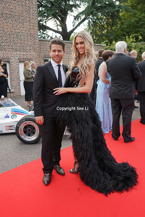 Hurlingham Club ,London, England, UK. 10th July, 2017. Jonny Dodge, Cassandra Dodge attend The Grand Prix Ball attracted a host of star-studded celebrity guests last night at Hurlingham Club , including Formula 1 drivers as well as iconic Formula 1 cars. Guests mingled with the elite whist being enterained with live performances by award winning UK artists and DJs ahead of the British Grand Prix at Silverstone.