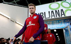 Eric Dier of England arrives at The SRC Stozice Stadium ahead of the World Cup Qualifier against Slovenia - Mandatory by-line: Robbie Stephenson/JMP - 10/10/2016 - FOOTBALL - SRC Stozice - Ljubljana, England - England Press Conference