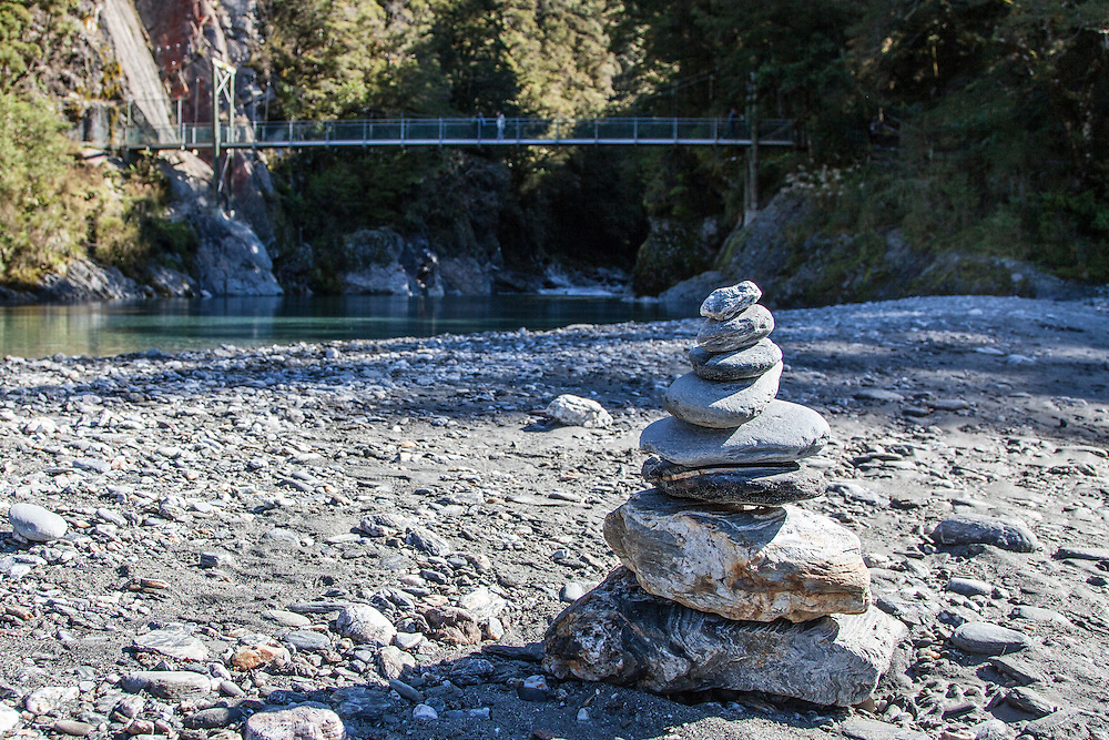 Our cairn at blue pools, Makarora