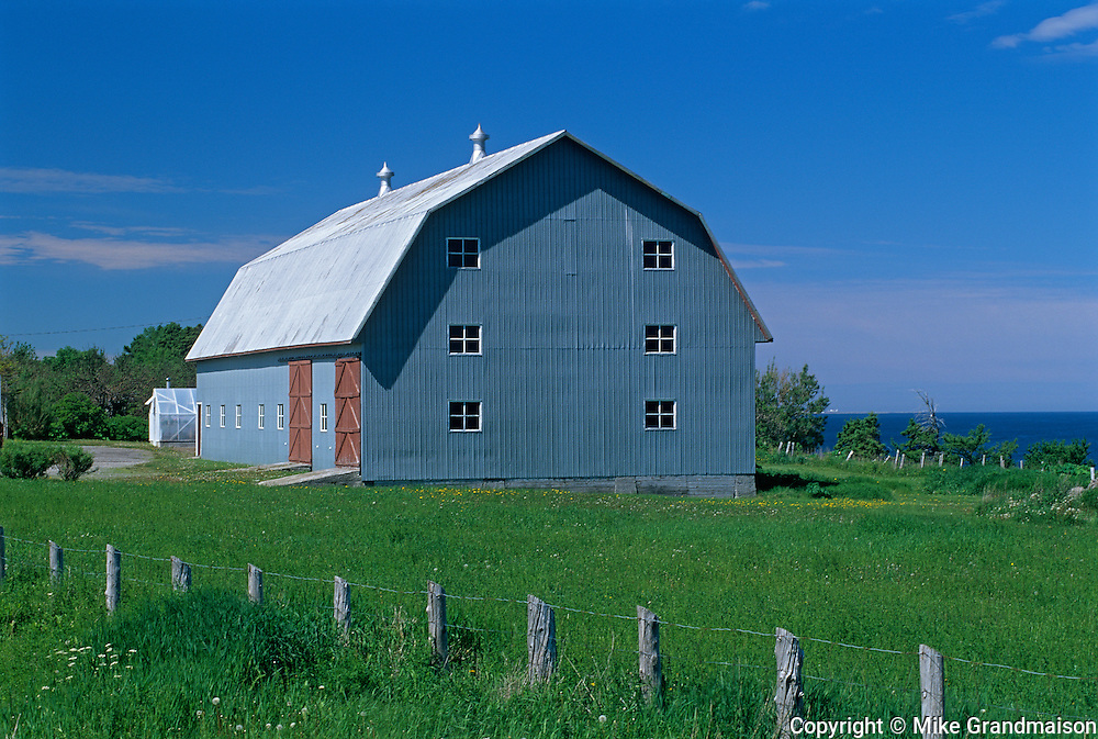 Barn  on Gaspe Peninsula<br /> Petite Matane<br /> Quebec<br /> Canada
