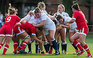 Sarah Bern at the front of a maul, U20 England Women v U20 Canada Women at Trent College, Derby Road, Long Eaton, England, on 26th August 2016