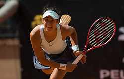 May 14, 2019 - Rome, ITALY - Caroline Garcia of France in action during her first-round match at the 2019 Internazionali BNL d'Italia WTA Premier 5 tennis tournament (Credit Image: © AFP7 via ZUMA Wire)