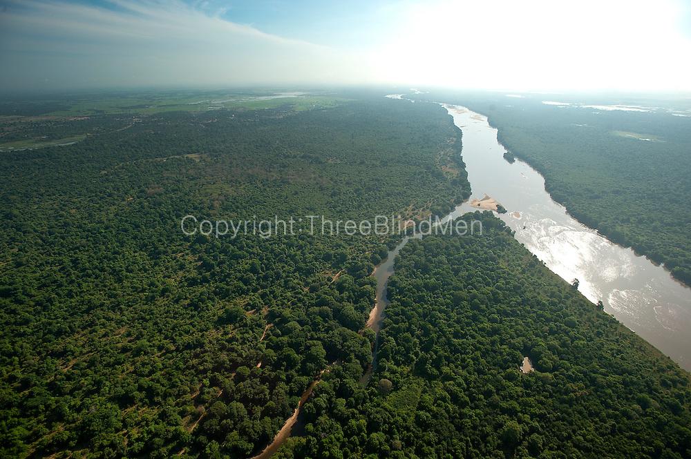 Aerial view of the Mahaweli River.