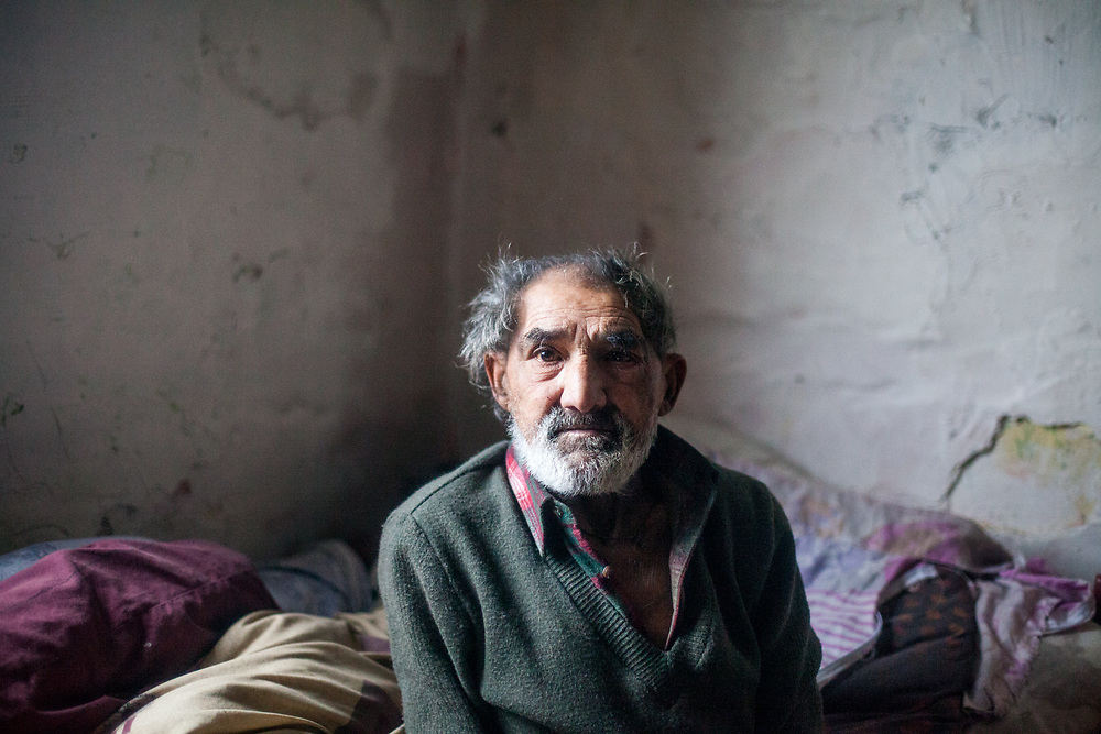 """Jan Ondic - 89 years of age - is one of the oldest inhabitants at the Roma settlement. He lives at the Roma part of the district """"Podsadek"""". The town of Stara Lubovna has a population of 16350, of whom 2 060 (13%) are of Roma origin. The majority of Roma live in the Podsadek district, where 980 (74%) out of 1330 inhabitants are Roma."""