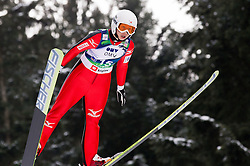 Yoshiko Kasai of Japan during Normal Hill Individual Competition at FIS World Cup Ski jumping Ladies Ljubno 2012, on February 11, 2012 in Ljubno ob Savinji, Slovenia. (Photo By Vid Ponikvar / Sportida.com)