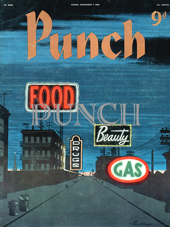 Punch (Front cover, 7 November 1956)