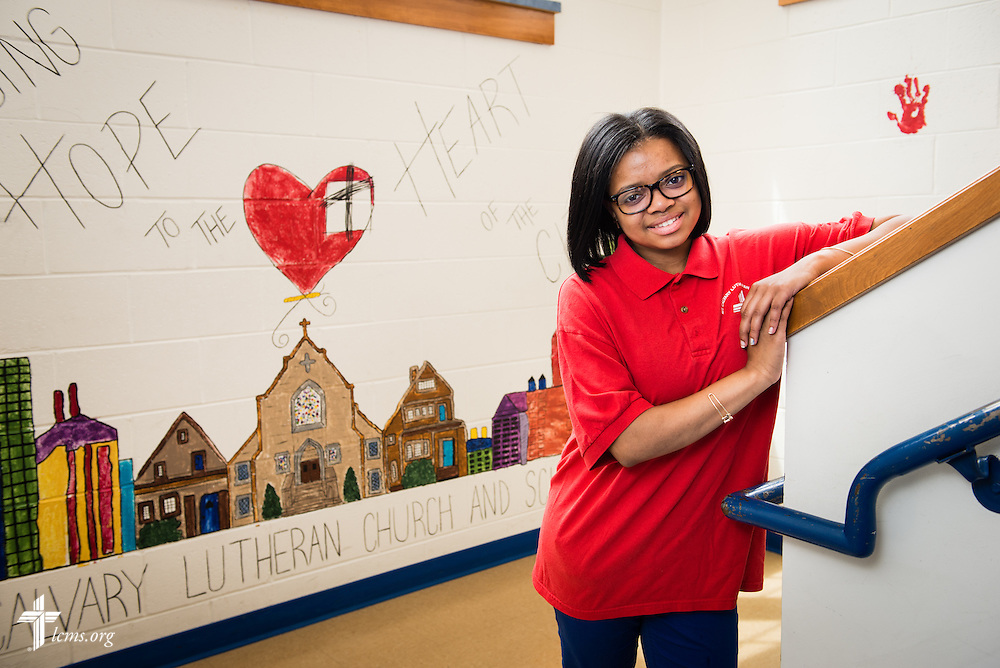 Portrait of Briana at Mount Calvary Lutheran School on Wednesday, May 28, 2014, in Milwaukee, Wis. LCMS Communications/Erik M. Lunsford