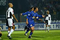 Siena 23-10-04<br />Campionato di calcio Serie A 2004-05<br />Siena Juventus<br />nella  foto Del Piero esulta dopo il gol<br />Foto Snapshot / Graffiti