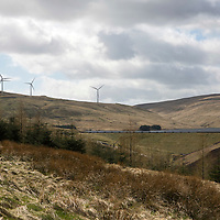 The EDF Burnfoot Hill windfarm sits in the hills above Upper Glendevon Reservoir, in Glendevon, Perthshire<br />