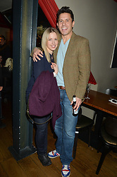 JEREMY EDWARDS and his wife LYDIA at the 1st birthday of The House of Ho, 57-59 Old Compton Street, Soho, London on 22nd January 2015.