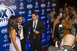 July 19, 2018 - SãO Paulo, Brazil - SÃO PAULO, SP - 19.07.2018: INSTITUTO NEYMAR JR REALIZA LEILãO - The Neymar Jr Project Institute holds, for the second consecutive year, the charity auction for the institution's socio-educational activities. In this issue, the hosts oe evening, Ng, Neymar Jr. and his family, welcomed about 700 guests among athletes, celebrities and business people. The big news of the night was the 25 lots auctioned, presented by five celebrities. In the highlight the player Neymar Jr and namotrada Bruna Marquezine give a press interview at the event. (Credit Image: © Emerson Santos/Fotoarena via ZUMA Press)