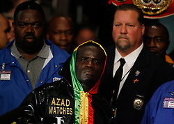 June 13, 2009; New York, NY, USA;  Joshua Clottey makes his way to the ring for his bout against WBO Welterweight Champion Miguel Cotto at Madison Square Garden.  Cotto retained his title via split decision.
