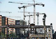 Duitsland, Berlijn, 22-8-2009 S-Bahnhof Potsdamer Platz. Nog steeds wordt er in het centrum gebouwd.Foto: Flip Franssen/Hollandse Hoogte