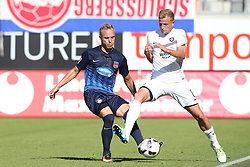 07.08.2016, Voith Arena, Heidenheim, GER, 2. FBL, 1. FC Heidenheim vs FC Erzgebirge Aue, 1. Runde, im Bild Arne Feick rechts Nicky Adler ( FC Erzgebirge Aue ) // during the 2nd German Bundesliga 1st round match between 1. FC Heidenheim and FC Erzgebirge Aue Voith Arena in Heidenheim, Germany on 2016/08/07. EXPA Pictures © 2016, PhotoCredit: EXPA/ Eibner-Pressefoto/ Langer<br /> <br /> *****ATTENTION - OUT of GER*****