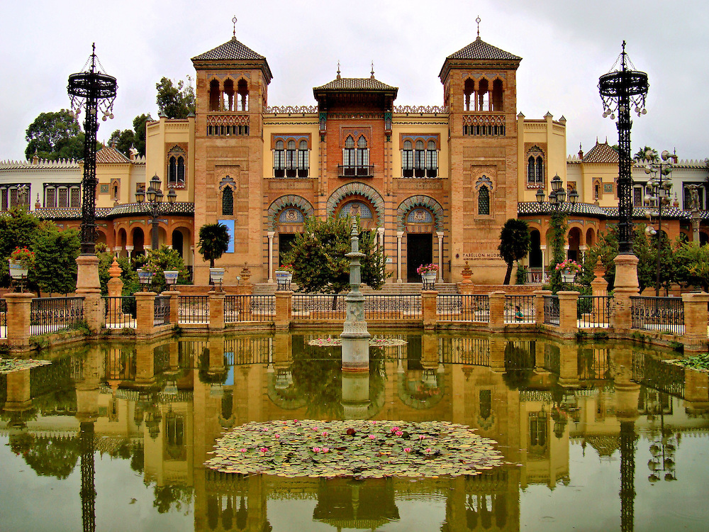 Museum of Arts and Traditions in Mar&iacute;a Luisa Park in Seville, Spain <br />
