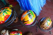 Painted coconuts, Oahu, Hawaii