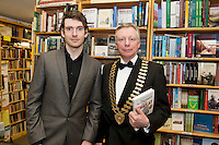 Founder of the Expect Success Academy, Galway based business and marketing strategist John Mulry launched his first book Your Elephant's Under Threat. At the launch  the author himself John Mulry  , Jim Fennell, President of Galway Chamber. Your Elephant's Under Threat will be available from www.amazon.com and Charlie Byrne&rsquo;s Bookshop Galway from February 28th and retails at &euro;19.99<br /> &nbsp;Photo:Andrew Downes