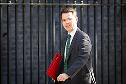 © Licensed to London News Pictures. 01/05/2018. London, UK. Newly appointed Secretary of State for Housing, Communities and Local Government James Brokenshire arriving in Downing Street to attend a Cabinet meeting this morning. Cabinet positions have recently shuffled around, following Amber Rudd's resignation as Home Secretary, following the Windrush scandal. Photo credit : Tom Nicholson/LNP