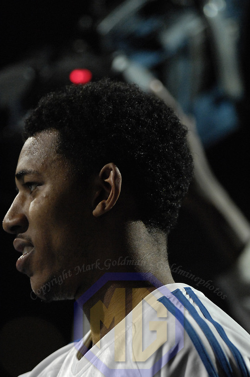 19 December 2007:   Washington Wizards forward Nick Young (1) is introduced to crowd prior to the game against the Chicago Bulls at the Verizon Center in Washington, D.C.  The Bulls defeated the Wizards 95-84.