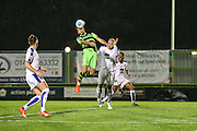 Forest Green Rovers Christian Doidge(9) heads the ball towards goal during the Vanarama National League match between Forest Green Rovers and Tranmere Rovers at the New Lawn, Forest Green, United Kingdom on 22 November 2016. Photo by Shane Healey.
