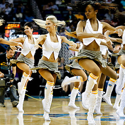 October 29, 2010; New Orleans, LA, USA; New Orleans Hornets Honeybees cheerleaders perform during a game against the Denver Nuggets at the New Orleans Arena. The Hornets defeated the Nuggets 101-95.  Mandatory Credit: Derick E. Hingle