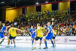 Florjani RK Celje Pivovarna Lasko fan group during handball match between RK Gorenje Velenje and RK Celje Pivovarna Lasko in SEHA league, Round 1, on 30th of August , 2017 in Rdeca Dvorana, Velenje, Slovenia. Photo by Grega Valancic/ Sportida