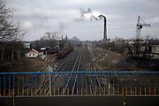 Industrial outskirts of Novohrodivka, eastern Ukraine, Oblast Donetsk, Donbass.