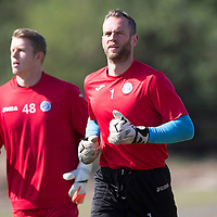 St Johnstone Training...24.04.15<br /> Alan Mannus pictured in training this morning at McDiarmid Park ahead of tomorrow's game at Dundee<br /> Picture by Graeme Hart.<br /> Copyright Perthshire Picture Agency<br /> Tel: 01738 623350  Mobile: 07990 594431
