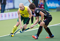 Hockey World Cup 2014<br /> The Hague, Netherlands <br /> Day 5- Men Australia v Belgium<br /> Rob Hammond<br /> <br /> Photo: Grant Treeby<br /> www.treebyimages.com.au