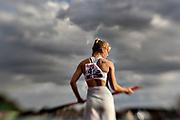 HELSINGBORG, SVERIGE 2017-08-25: Michaela Meijer fr&aring;n &Ouml;rgryte IS under SM i friidrott p&aring; Hedens IP, Helsingborg den 25 augusti 2017. Foto: Lars Dareberg/Ombrello<br /> ***BETALBILD***