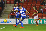 QPR midfielder Alejandro Faurlin strikes the ball during the Sky Bet Championship match between Nottingham Forest and Queens Park Rangers at the City Ground, Nottingham, England on 26 January 2016. Photo by Aaron Lupton.