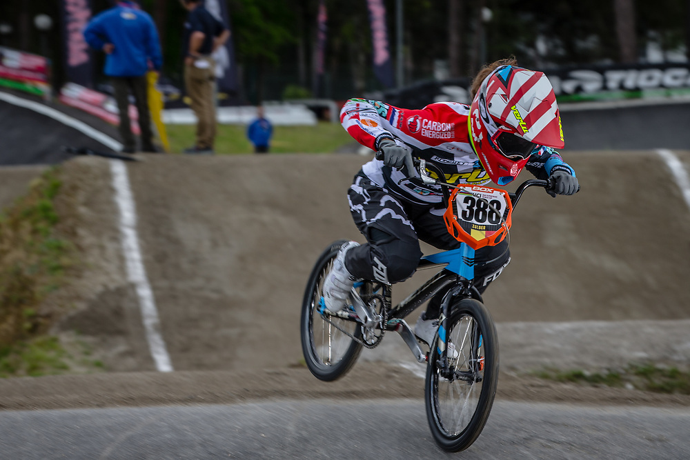 #388 (BAAUW Judy) NED during round 3 of the 2017 UCI BMX  Supercross World Cup in Zolder, Belgium,
