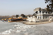 China, Beijing, Forbidden City, The Summer Palace built by Empress Cixi Marble boat