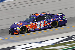 July 13, 2018 - Sparta, Kentucky, United States of America - Denny Hamlin (11) brings his race car down the front stretch during practice for the Quaker State 400 at Kentucky Speedway in Sparta, Kentucky. (Credit Image: © Chris Owens Asp Inc/ASP via ZUMA Wire)