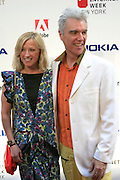 David Byrne and Guest at the 11th Annual Webby Awards  held at Cipriani's Downtown on June 10, 2008