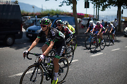 Anna Plichta (POL) of WM3 Pro Cycling Team leads the break in the seventh lap of Stage 10 of the Giro Rosa - a 124 km road race, starting and finishing in Torre Del Greco on July 9, 2017, in Naples, Italy. (Photo by Balint Hamvas/Velofocus.com)