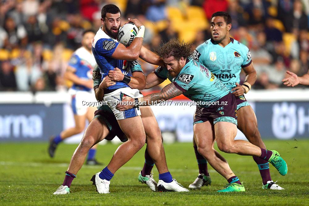 Ben Matulino. Vodafone Warriors v Brisbane Broncos, Round 12 of the 2017 NRL Rugby League Premiership season at Mt Smart Stadium, Auckland, New Zealand. 27 May 2017. Copyright photo: Renee McKay / www.photosport.nz