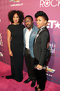 October 13, 2012- Bronx, NY: (L-R) Actress Tracey Ellis Ross and Recording Artists Anthony Hamilton and Janelle Monae at the Black Girls Rock! Awards Red Carpet presented by BET Networks and sponsored by Chevy held at the Paradise Theater on October 13, 2012 in the Bronx, New York. BLACK GIRLS ROCK! Inc. is 501(c)3 non-profit youth empowerment and mentoring organization founded by DJ Beverly Bond, established to promote the arts for young women of color, as well as to encourage dialogue and analysis of the ways women of color are portrayed in the media. (Terrence Jennings)