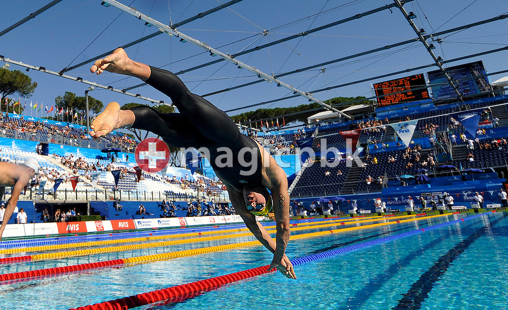 Leith BRODIE of Australia starts in the men's 400m individual medley (IM) preliminary at the 13th FINA World Championships at the Foro Italico complex in Rome, Italy, Sunday, Aug. 2, 2009. (Photo by Patrick B. Kraemer / MAGICPBK)