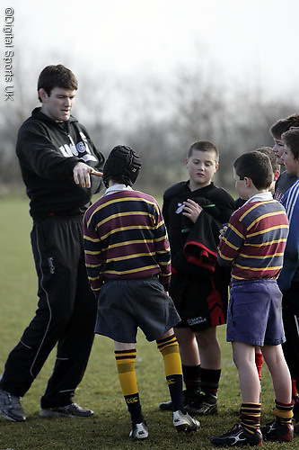 Saracens Masterclass at Old Albanians RFC. 20-2-09...